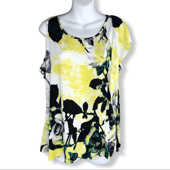 Worthington Tops - Worthington Rose Floral Print Tank Top NWT Medium